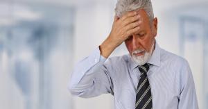 business man realizing mistake